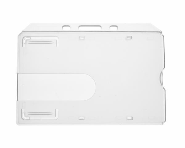 Enclosed Clear Rigid Card Holder