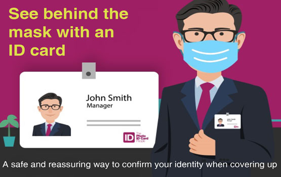 See behind the mask with an ID card