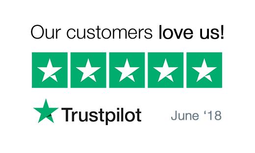 5 Stars Trustpilot Reviews